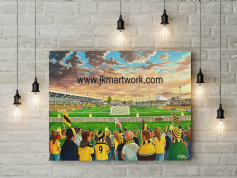 rodney parade  canvas a3 size